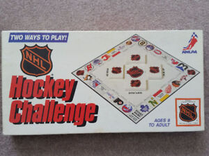 Vintage NHL Hockey Challenge Board Game/ Free HNIC Game