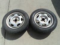 2 Michelin Tires with Rims 175/65/14