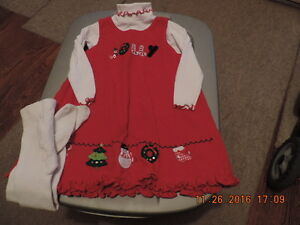 Girl's Size 3T Christmas/Holiday Jumper & Tights London Ontario image 1