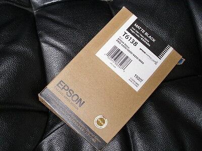 GENUINE EPSON T6138 MATTE BLACK INK STYLUS PRO 4400 4450 4800 4880 110ml NEW OEM
