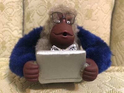 "Kipling Monkey Keychain ~ ""Computer Geek"""