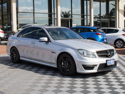 2012 Mercedes-Benz C63 W204 MY12 AMG SPEEDSHIFT MCT Silver 7 Speed Sports Automatic Sedan