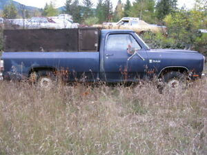 1982 DODGE RAM 1/2 TON TRUCK.....selling as a parts truck