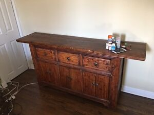 Beautiful Asian Dresser or Buffet -  Stained Brown