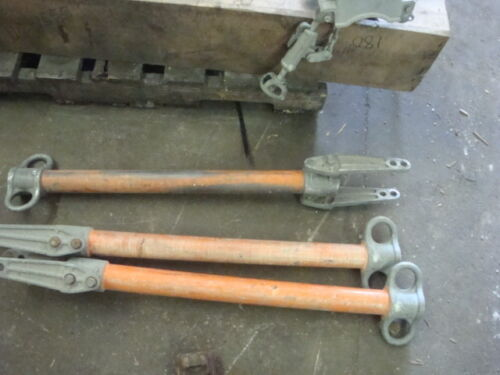 LOT OF THREE Hubbell Chance H20 crossarm GIN in GOOD condition