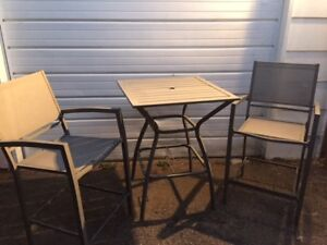 patio bar table and chairs set