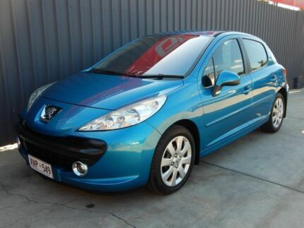 2007 Peugeot 207 A7 XT Blue 4 Speed Sports Automatic Hatchback Blair Athol Port Adelaide Area Preview