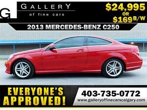 2013 MercedesBenz C250 Coupe $169 bi-weekly APPLY NOW DRIVE NOW