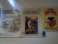 ABC MEGA RARE ANN JUNGMAN, VLAD; ZANE GREY THUNDER; GERALD DURRELL THE ARK AUDIO BOOK CASSETTE TAPES