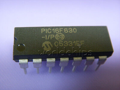 5pcs Pic16f630-ip 16f630 Pic16f630 Dip-14 Microcontroller Ic