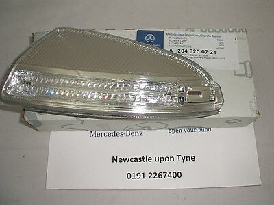 Genuine Mercedes-Benz W204 C-Class LH Blinker Indicator Lamp A2048200721 NEW