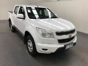 2015 Holden Colorado RG MY15 LS CREW CAB White Manual Dual Cab Utility Moonah Glenorchy Area Preview