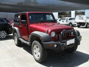 2011 Jeep Wrangler JK MY2010 Unlimited Red Manual Softtop Moorabbin Kingston Area Preview