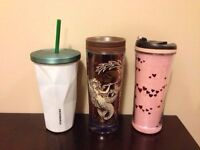 Used Starbucks mug and stainless steel cup for sale!