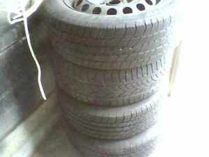 "205-55-16 All season Michelen tires and rims """"ON VW RIMS"""""