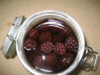 Blackberries soaked for 40 months