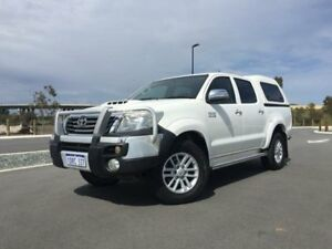 2011 Toyota Hilux KUN26R MY11 Upgrade SR5 (4x4) Glacier White 4 Speed Automatic Dual Cab Pick-up Beckenham Gosnells Area Preview