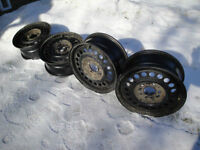 "15"" steel rims for winter tires"