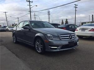 2013 Mercedes C300 4matic, navi, BSM,F.warranty,only 53mks,MINT!