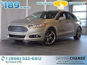 2016 Ford Fusion Titanium-AWD-Moon Roof-Nav-Heated/Cooled Seats
