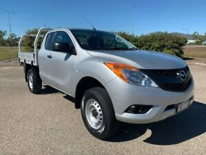2013 Mazda BT-50 UP0YF1 XT Freestyle Silver 6 Speed Manual Cab Chassis Garbutt Townsville City Preview