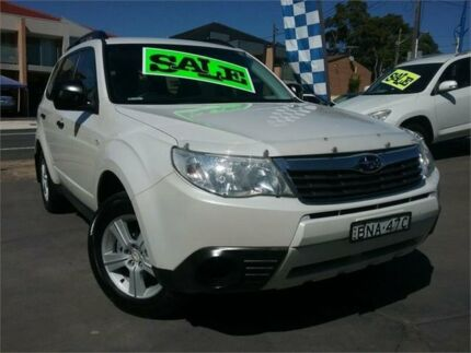 2009 Subaru Forester MY09 X White 5 Speed Manual Wagon Greenacre Bankstown Area Preview