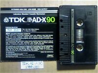 VERY RARE TDK AD-X 90 1984-1985 PREMIUM DUAL-LAYER CASSETTE TAPES W/ CCLs FREE P&P & GUARANTEE