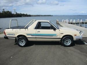 1990 Subaru Brumby (4x4) Beige 4 Speed Manual 4x4 Utility Horsley Wollongong Area Preview