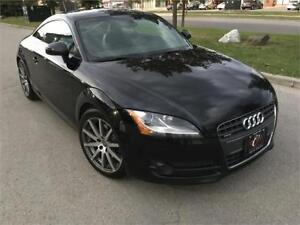 2009 AUDI TT AWD SPT PKG/PADLE SHFT/BLUTOOTH/ONLY 97KM/BLK ON BK