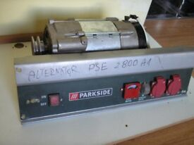 3000 rpm alternator 1ph 2,8kva 50Hz