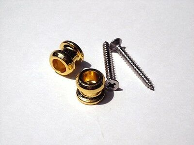 Gold Replacement Buttons for Schaller and Schaller Style Strap Lock System on Rummage