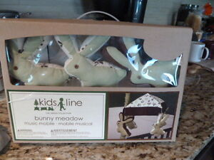 NEW Baby Line Bunny Meadow Musical Mobile