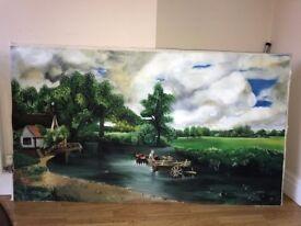 John Constable The Hay Wain Oil on Canvas