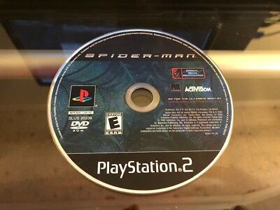 SPIDER-MAN (PS2 PlayStation 2) WORKS / NO TRACKING / DISC ONLY