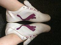 Well Worn White & Purple Trainers