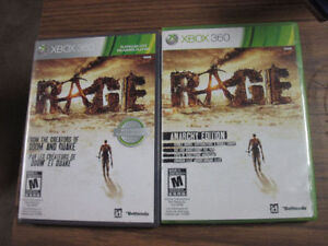 XBOX 360 RAGE AMAZING GAME CHOICE OF EDITIONS LOOK!!!