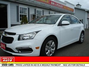 2015 Chevrolet Cruze LT you're approved   $75.70 a week tax inc.