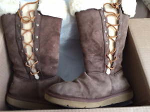 Ladies UGG Australia boots for sale. Size 8 US. 13 inches tall