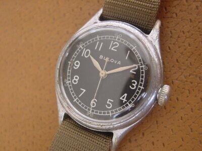 World War 2 Era Bulova U.S. Military Issue Wrist Watch ........ Type A - 11