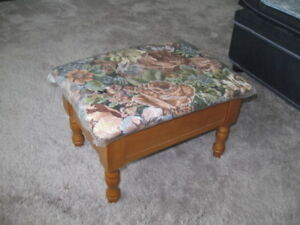 FOOTSTOOL WITH STORAGE AREA