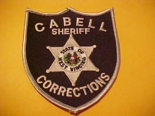 CABELL COUNTY WEST VIRGINIA CORRECTIONS POLICE PATCH SHOULDER SIZE UNUSED BLACK