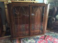 Lovely antique/vintage mahogany cabinet/bookcase