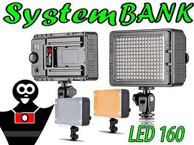 Lampada Luce LED 160 Video Illuminatore per NIKON D90 D800 D300s PENTAX Q-S1 Q10 Nikon D90 Video
