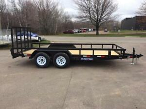 "NEW 2018 SURE-TRAC 82"" x 16' HD LANDSCAPE TRAILER"
