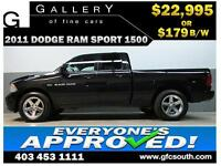 2011 DODGE RAM SPORT CREW *EVERYONE APPROVED* $0 DOWN $179/BW!
