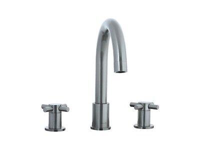 Cifial 222.620 Techno Double HandleDeckMount Satin Nickel CFL1007_2858463 Faucet
