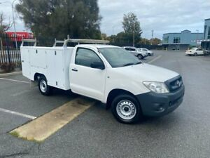 2011 Toyota Hilux TGN16R MY10 Workmate 4x2 White 5 Speed Manual Cab Chassis Mile End South West Torrens Area Preview