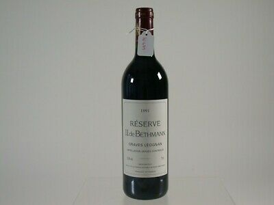 Wein Rotwein Red Wine 1991 J.J. De Bethmann Graves Leognan Reserve France 439/0