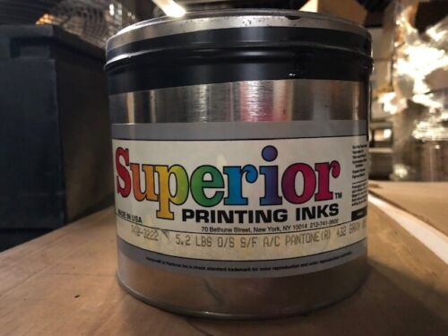 SUPERIOR PRINTING INKS  PANTONE 432 Gray 5.2lbs