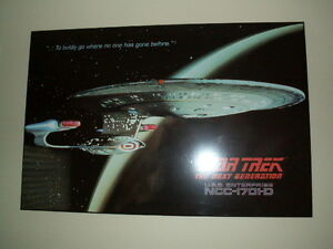 Star Trek: The Next Generation large plaque poster/art.